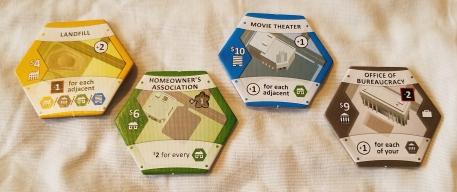 Suburbia Board Game Tiles